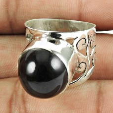 925 Sterling Silver Jewellery Amusable Gold Sheen Obsidian Gemstone Ring