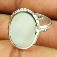 925 Sterling Silver Antique Jewellery Fashion Mother Of Pearl Ring