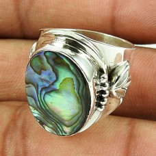 925 Sterling Silver Gemstone Jewellery Pretty Shell Ring