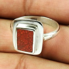 925 Sterling Silver Antique Jewellery Good-Looking Inlay Gemstone Ring