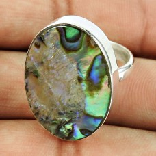 925 Sterling Silver Jewellery Engaging Shell Ring