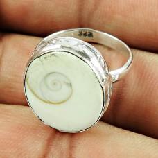 925 Sterling Silver Vintage Jewellery Charming Shiva Eye Gemstone Ring