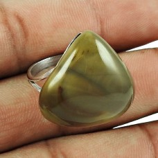 925 Sterling Silver Gemstone Jewellery Pretty Jasper Gemstone Fashion Ring