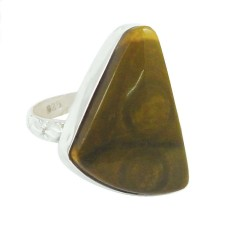 Sterling Silver Fashion Jewellery Fashion Imperial Jasper Gemstone Ring
