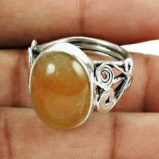 Fashion Aventurine Gemstone Sterling Silver Ring 925 Sterling Silver Antique Jewellery