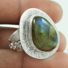 New Faceted!! 925 Silver Labradorite Gemstone Ring Supplier India