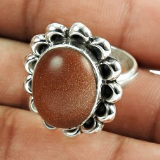 Stunning Red Sunstone Sterling Silver Ring 925 Silver Jewellery
