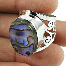 Perfect Shell Gemstone Sterling Silver Ring Sterling Silver Jewellery