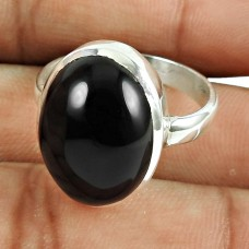 Beautiful 925 Sterling Silver Black Onyx Gemstone Ring Jewelry