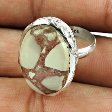 Rare 925 Sterling Silver Rosetta Gemstone Ring Ethnic Jewellery