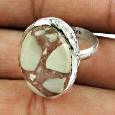 Rare 925 Sterling Silver Rosetta Gemstone Ring Ethnic Jewellery