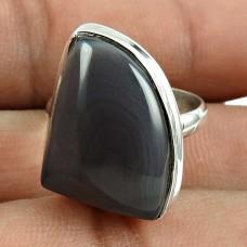 Lustrous 925 Sterling Silver Botswana Agate Gemstone Ring Ethnic Jewellery