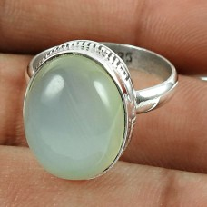 Designer 925 Sterling Silver Chalcedony Gemstone Ring Traditional Jewelry