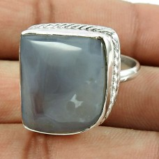 Beautiful 925 Sterling Silver Botswana Agate Gemstone Ring Jewelry