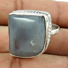 Beautiful 925 Sterling Silver Botswana Agate Gemstone Ring Jewelry