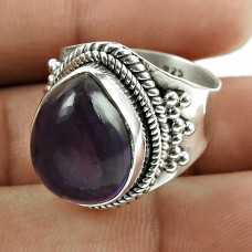 Charming Amethyst Gemstone 925 Sterling Silver Vintage Ring Jewellery Proveedor