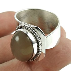 Rattling Moon Stone Gemstone 925 Sterling Silver Ring Jewellery