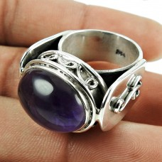 Beautiful 925 Sterling Silver Amethyst Gemstone Ring Jewellery