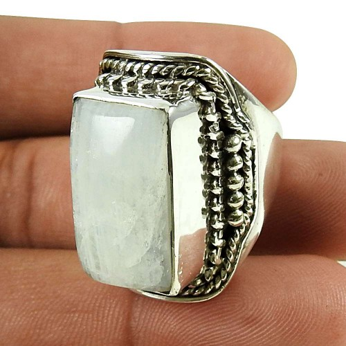 Party Wear 925 Sterling Silver Rainbow Moonstone Ring Lieferant