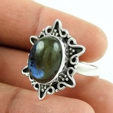 Ivy Precious!! 925 Silver Labradorite Gemstone Ring
