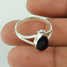 Great Creation!! 925 Silver Black Onyx Ring Grossiste