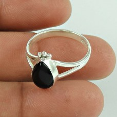 Top Quality African!! 925 Silver Black Onyx Ring Wholesaler