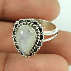 Paradise Lantern!! 925 Silver Rainbow Moonstone Ring