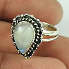 Great!! 925 Silver Rainbow Moonstone Ring