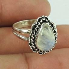 Royal Color!! 925 Silver Rainbow Moonstone Ring Großhändler
