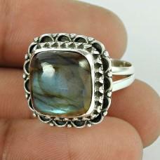 Secret Design!! Labradorite Handmade 925 Sterling Silver Ring Grossiste