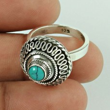 Very Delicate! 925 Silver Turquoise Ring Lieferant