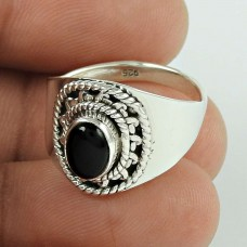 New Exclusive Style!! Black Onyx 925 Sterling Silver Ring Exporter