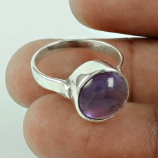 Large! 925 Silver Amethyst Ring
