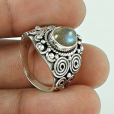 Awesome Style! 925 Silver Labradorite Ring