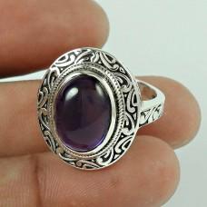 Tropical Glow! 925 Silver Amethyst Ring Supplier