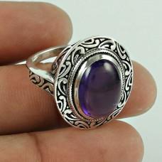 Big Inspire! 925 Silver Amethyst Ring Proveedor