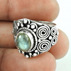 Fantastic Quality Of! 925 Silver Labradorite Ring