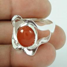 Hot ! 925 Silver Carnelian Ring