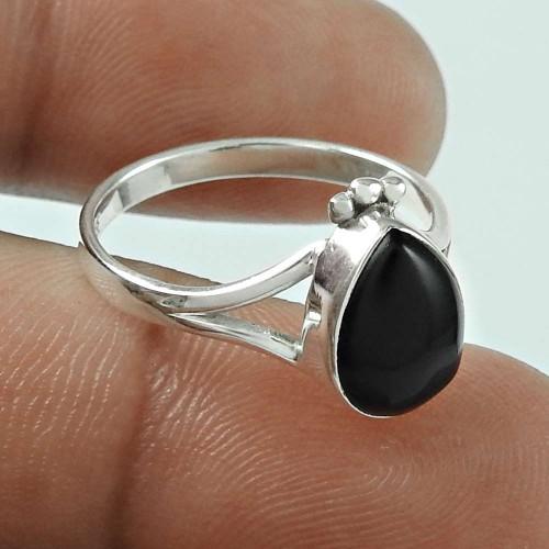 Gorgeous Design! 925 Silver Black Onyx Ring