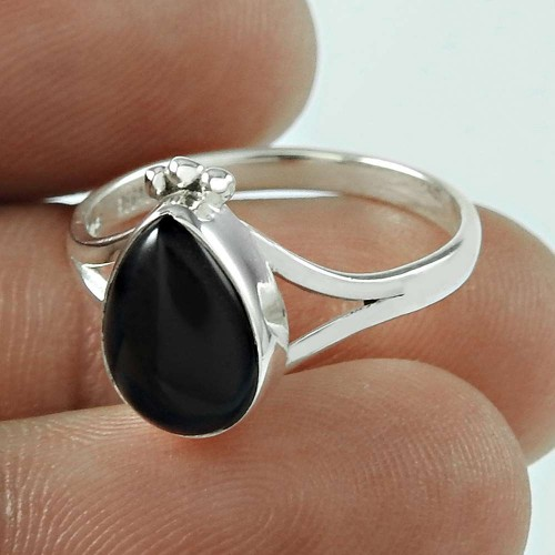 Beautiful! 925 Silver Black Onyx Ring Fabricant