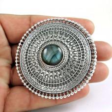 Big Special Moment! 925 Silver Labradorite Ring Manufacturer