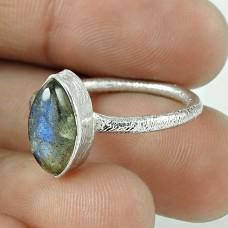 Natural Beauty! 925 Silver Labradorite Ring Supplier India