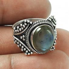 New Design! Labradorite 925 Sterling Silver Ring