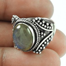 2018 Fashion!! Labradorite 925 Sterling Silver Ring Al por mayor