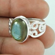 Breathtaking!! Labradorite 925 Sterling Silver Ring