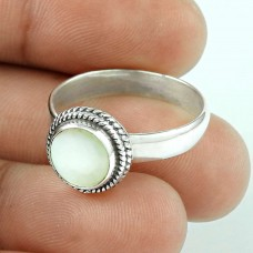 Excellent! 925 Silver MOP Ring