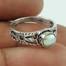 Large! 925 Silver Pearl Ring