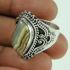 Gorgeous! 925 Silver Honey Rodochrosite Ring