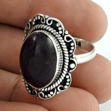 925 Sterling Silver Fashion Jewellery Ethnic Charoite Gemstone Ring Al por mayor