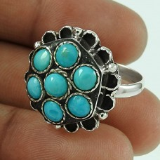 Big Special Moment!! Turquoise 925 Sterling Silver Ring